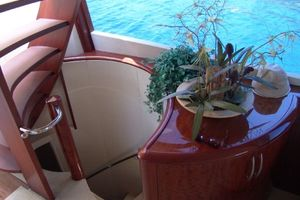 68' Lazzara 68 Pilothouse Motoryacht 2005 Spiral stairway to staterooms