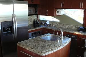 68' Lazzara 68 Pilothouse Motoryacht 2005 Full size galley