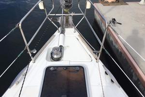 49' Beneteau 49 2008 Bow, anchor chain, sail locker deck hatch