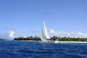 49' Beneteau 49 2008 Sailing in the lee of the island.