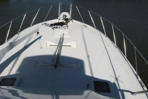 55' Hatteras Convertible 1985 Bow from Bridge