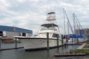 55' Hatteras Convertible 1985 Bow Profile