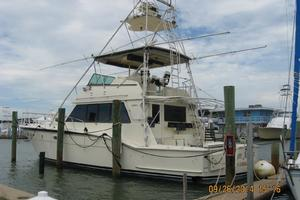 55' Hatteras Convertible 1985 Port profile