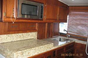 55' Hatteras Convertible 1985 Galley w/microwave and sink