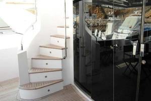 105' Majesty Yachts 105 2014 Flybridge Stairs