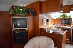 48' Ocean 48 Motor Yacht 1989 Salon - looking into Galley