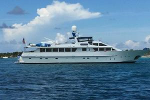 112' Benetti Custom Lloyds M.Y. 1983 Starboard Side underway