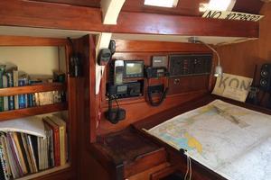 75' Naval Yachts Schooner 1980 Navigation Station