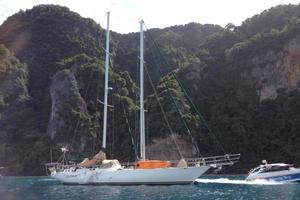 75' Naval Yachts Schooner 1980 At Anchor