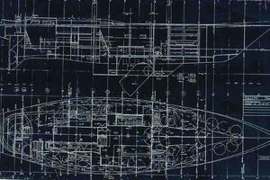 75' Naval Yachts Schooner 1980 Interior Drawing Layout
