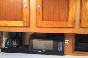 75' Naval Yachts Schooner 1980 Galley Microwave and Coffee Maker