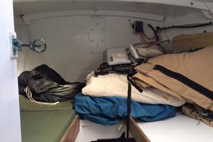 75' Naval Yachts Schooner 1980 Forepeak Cabin / Storage work room