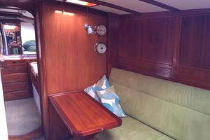 75' Naval Yachts Schooner 1980 Starboard Salon Small Table