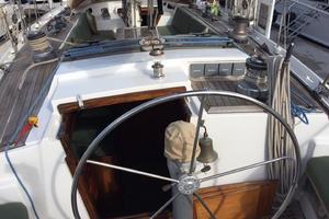 75' Naval Yachts Schooner 1980 Helm Cockpit