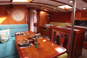75' Naval Yachts Schooner 1980 Dinette