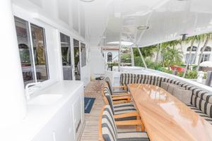 102' Crescent Motor Yacht 1991 Aft Deck