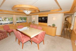 102' Crescent Motor Yacht 1991 Main Salon Dining