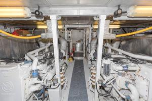 102' Crescent Motor Yacht 1991 Engine Room