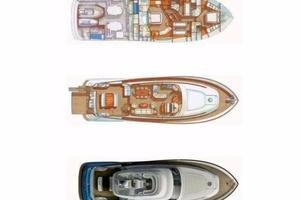 74' Mochi Craft Motor Yacht 2006 Layout