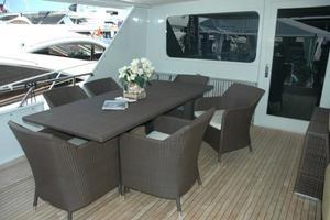 108' Broward Motor Yacht 1995 Aft Deck
