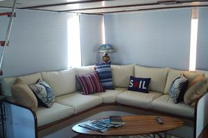 61' Huckins Atlantic 1965 Aft Deck Upper Salon