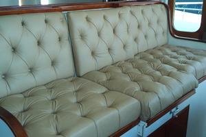 61' Huckins Atlantic 1965 Pilothouse Bench Seat