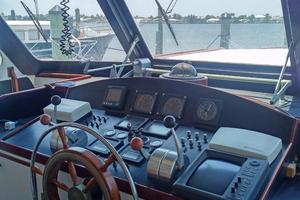 61' Huckins Atlantic 1965 Pilothouse Helm