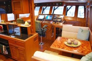 64' Out Island Trawler 2015 Helm/Galley/Dinette