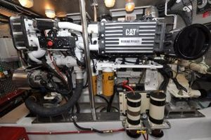 64' Out Island Trawler 2015 Engine Room