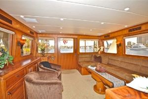 64' Out Island Trawler 2015 Salon looking Aft