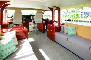 56' Huckins Linwood 56 2006 Luxurious bridge deck