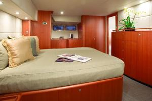 56' Huckins Linwood 56 2006 Master Stateroom with his and her ensuite bath