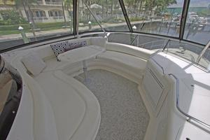 56' Sea Ray 560 Sedan Bridge 2000 Flybridge Settee with A/C & Wet Bar