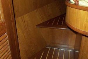 64' Grand Alaskan Pilothouse 2006 VIP Stateroom Berth Steps