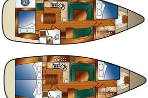 41' Hunter 41 Deck Salon 2007 Owner Layout