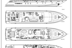 105' Hargrave Open Bridge 2006 Vessel Layout