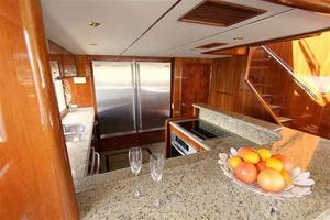 91' Tarrab Tri Deck MY 2012 Galley Looking Aft