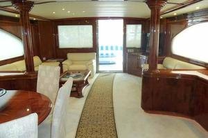 91' Tarrab Tri Deck MY 2012 Salon Looking Aft