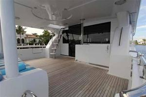 91' Tarrab Tri Deck MY 2012 Aft Deck Looking Forward