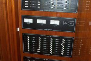 91' Tarrab Tri Deck MY 2012 Galley Electrical Panel