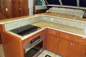 91' Tarrab Tri Deck My 2012 Galley Looking to Port