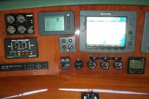 91' Tarrab Tri Deck MY 2012 Helm Detail Port