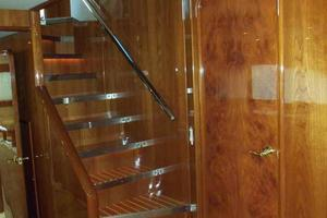 91' Tarrab Tri Deck MY 2012 Sky Lounge Access Stairs