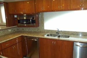 91' Tarrab Tri Deck MY 2012 Galley Looking to Starboard