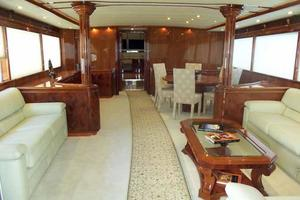 91' Tarrab Tri Deck MY 2012 Salon Looking Forward