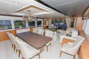 93' Johnson Rph W/on-deck Master 2017 Salon looking aft