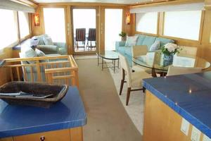 75' Hatteras Motoryacht 2002 SALON LOOKING AFT