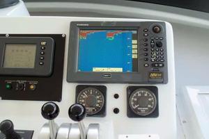 75' Hatteras Motoryacht 2002 HELM TO STARBOARD