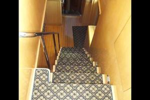 75' Hatteras Motoryacht 2002 STAIRS TO FLYBRIDGE