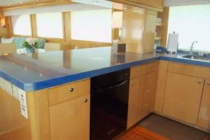 75' Hatteras Motoryacht 2002 GALLEY LOOKING AFT